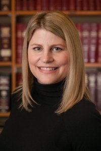 Janet Steil in the Kent Anderson Law Office Library
