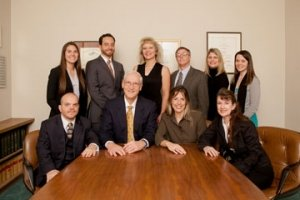 Kent Anderson Law Office Team at the Conference Table